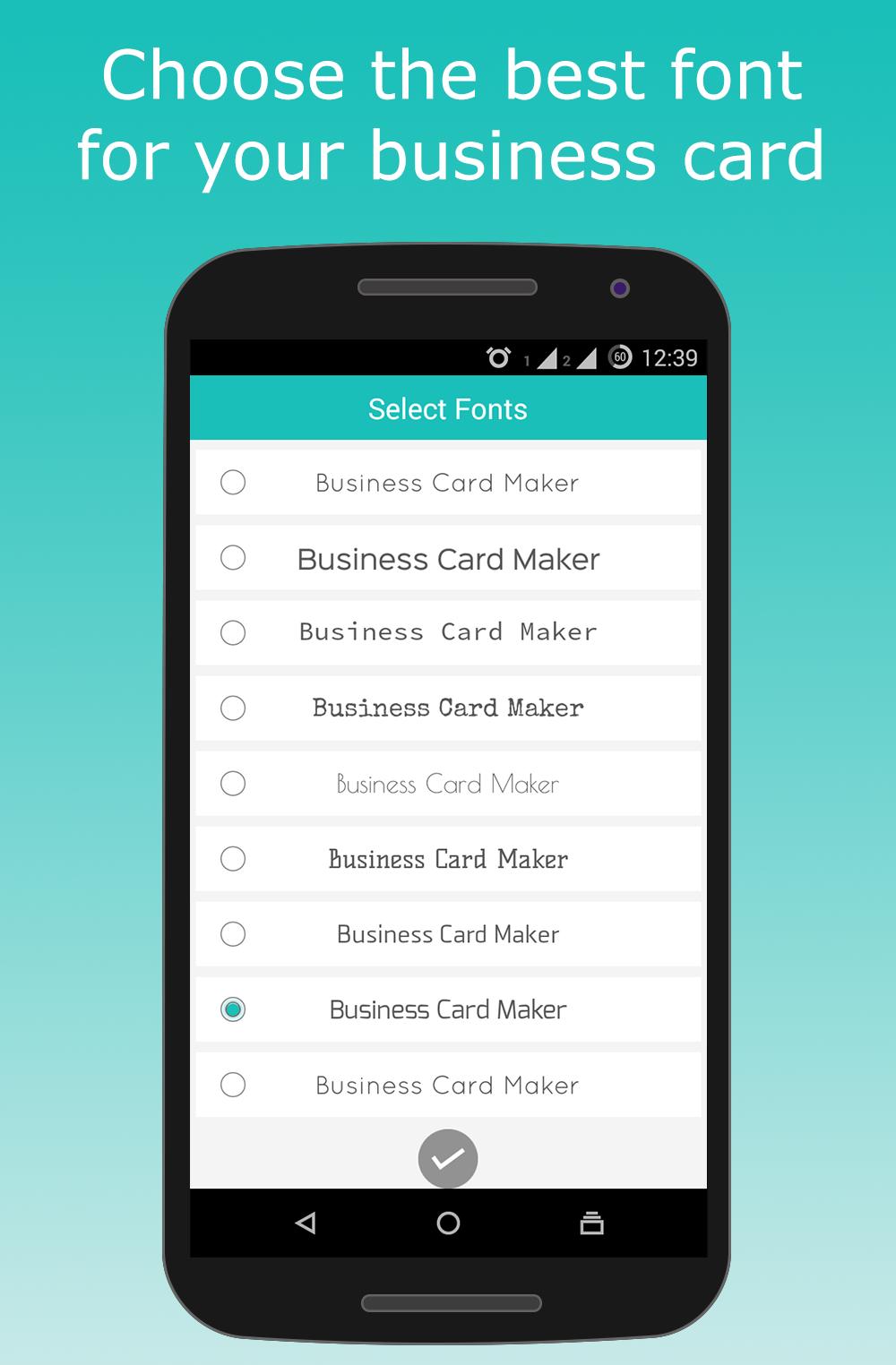Screenshots Business Card Maker